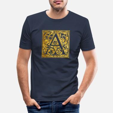 Initial Initials-A - Men's Slim Fit T-Shirt