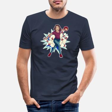 Lol Bowling Queen im blue style - Männer Slim Fit T-Shirt