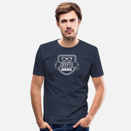 Tech T-Shirts - Crypto Currency - Men's Slim Fit T-Shirt navy