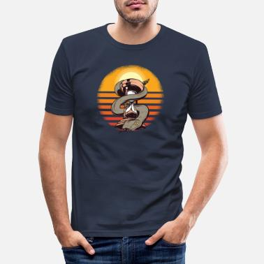 Christmas Retro Snake - Männer Slim Fit T-Shirt