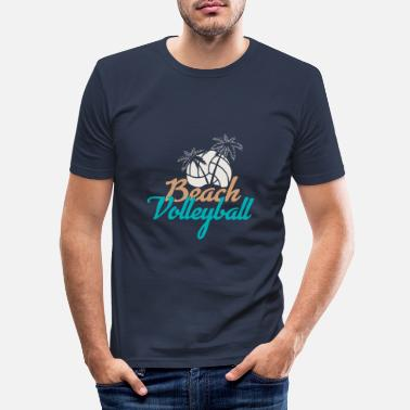 Playa Voley playa - Camiseta ajustada hombre