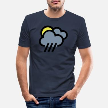 Weather Rainy weather, bad weather, chill icon - Men's Slim Fit T-Shirt