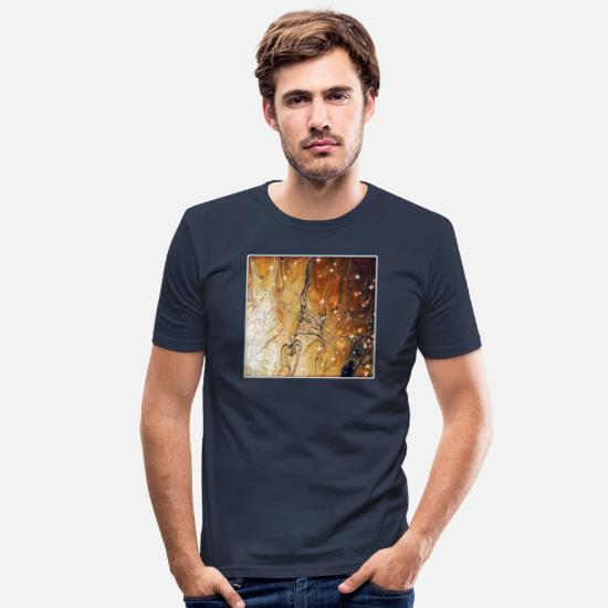 Ehefrau T-Shirts - Wind - Männer Slim Fit T-Shirt Navy