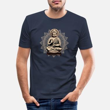 Buddhist Golden Buddha Buddhist - Slim fit T-shirt mænd