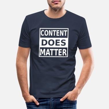 Marketing Contentmarketing Internet Online Data digitaal w - Mannen slim fit T-shirt