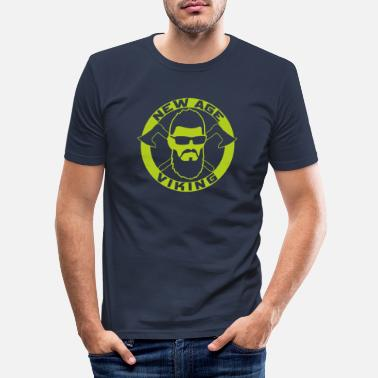 New Age NEW AGE VIKING Green - Men's Slim Fit T-Shirt