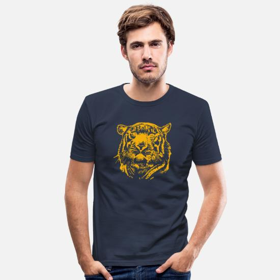 Gift T-shirts - Lions Head Lions Head - Mannen slim fit T-shirt navy