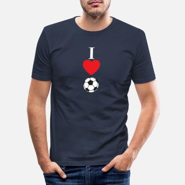 Football I love football gift idea - Men's Slim Fit T-Shirt