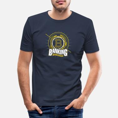 Monetary System Bitcoin - Banking the Unbanked - Men's Slim Fit T-Shirt