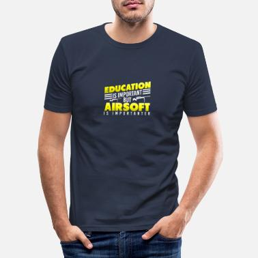 Education and Airsoft Important Gift Idea - Men's Slim Fit T-Shirt