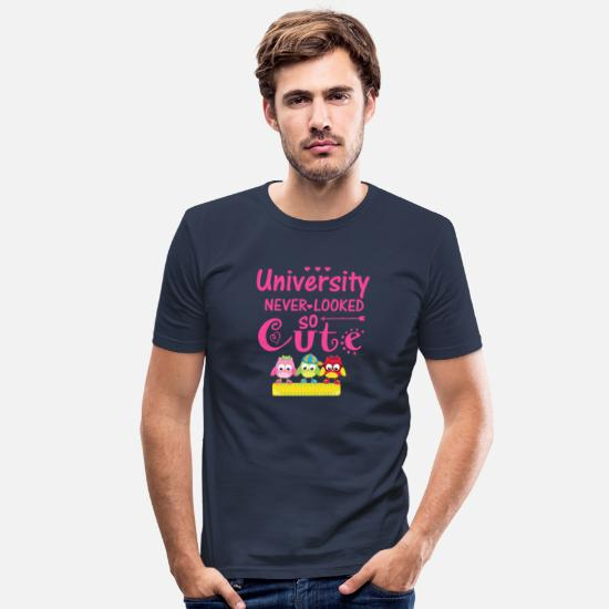 College T-Shirts - university never looked so cute - Men's Slim Fit T-Shirt navy