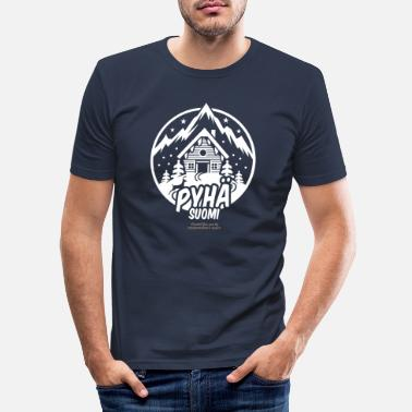 Ski Resort Pyhä Suomi Ski Resort - T-shirt slim fit herr