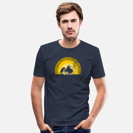 Krabbe T-shirts - Hermit Crab Crab Beach - Slim fit T-shirt mænd marineblå