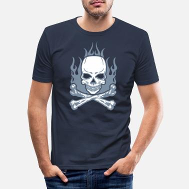 Burning Burning Skull - T-shirt moulant Homme