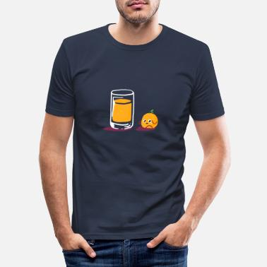 Orange Les personnes en deuil orange Jus d'orange - T-shirt moulant Homme