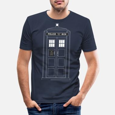 Police Call Box Police Call Box - Men's Slim Fit T-Shirt