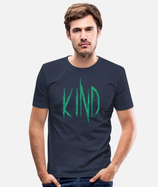 Freunde T-Shirts - Kind - Männer Slim Fit T-Shirt Navy