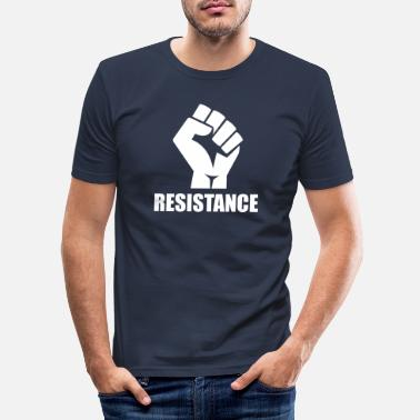 Resist Resistance / Resistance - Men's Slim Fit T-Shirt