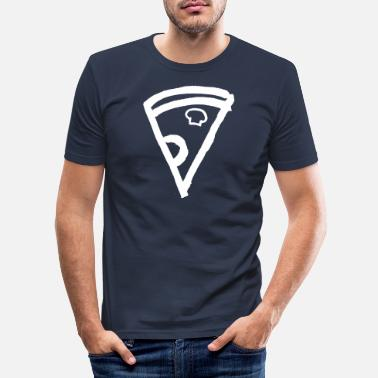 Drawing Pizza Pizza Pie Pizzeria baked in Italian - Men's Slim Fit T-Shirt