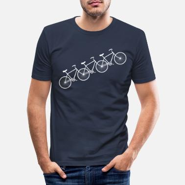 Cycling Cycles - Men's Slim Fit T-Shirt