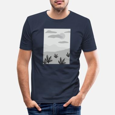 Heet wildernis - Mannen slim fit T-shirt