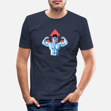 Muscleman muscleman - Slim fit T-skjorte for menn