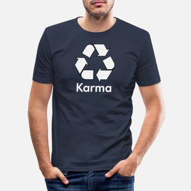 Karma karma - T-shirt slim fit herr