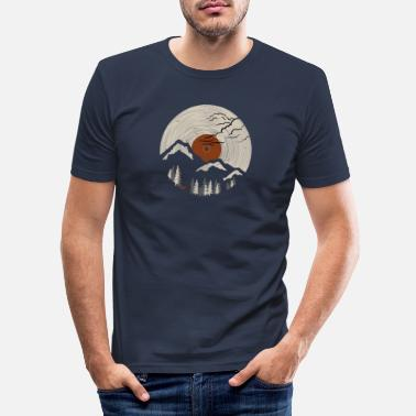 Record Mountain on record 2 - Men's Slim Fit T-Shirt