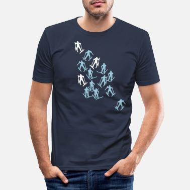 Runner ski runner - Men's Slim Fit T-Shirt