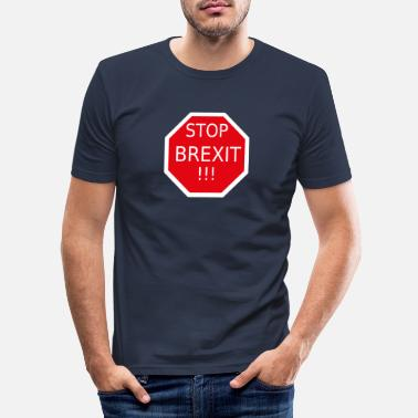 United STOP Brexit - Slim fit T-shirt mænd