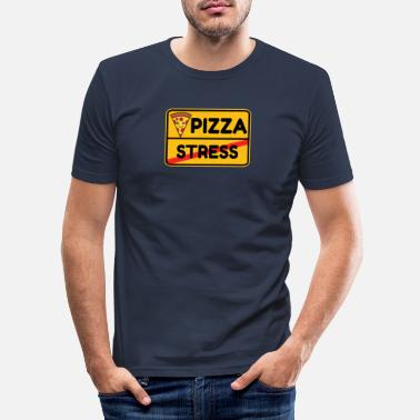 Dag Pizza gadeskilt fastfood mad gave ide - Slim fit T-shirt mænd