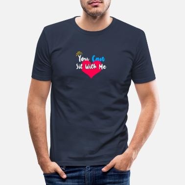 Integration Du kan sitta med mig - integration av integration - T-shirt slim fit herr