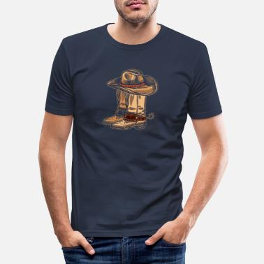 Cowboy Cowboy cowboy boots cowboy hat - Men's Slim Fit T-Shirt