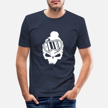 Snowboard Snowboard Skull with snowboard goggles - Men's Slim Fit T-Shirt