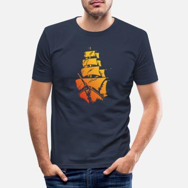 Pirate ship red yellow - Men's Slim Fit T-Shirt