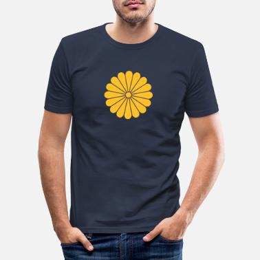 Traditionell chrysantheme - Männer Slim Fit T-Shirt