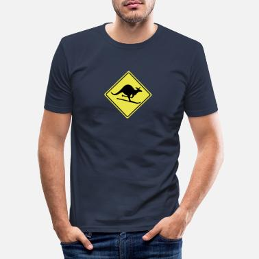 Joke roadsign kangaroo - Men's Slim Fit T-Shirt