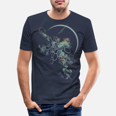 Weltall supernova-darkshirt - Männer Slim Fit T-Shirt