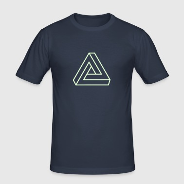 Penrose triangle, Impossible, illusion, Escher - Men's Slim Fit T-Shirt