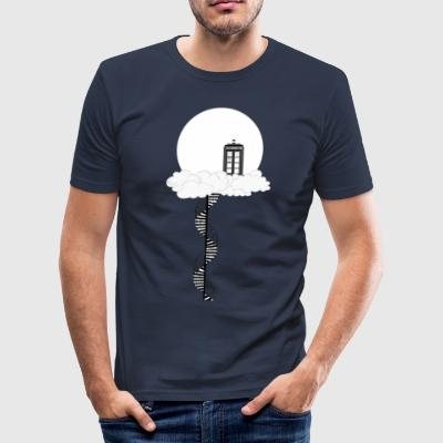 Tardis on clouds - Men's Slim Fit T-Shirt