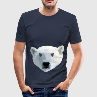 Low Poly 2D - IJsbeer - slim fit T-shirt
