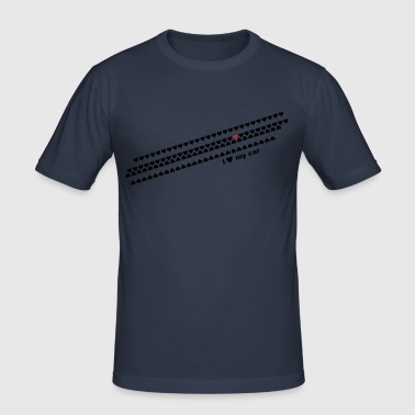 i love my car - Men's Slim Fit T-Shirt