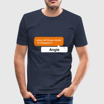 Angie, when will those clouds all disappear? pdf - Men's Slim Fit T-Shirt
