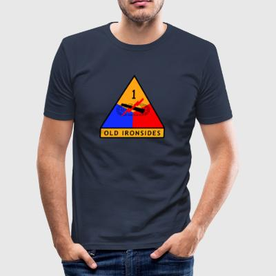 1st_Armored_Division - Slim Fit T-shirt herr