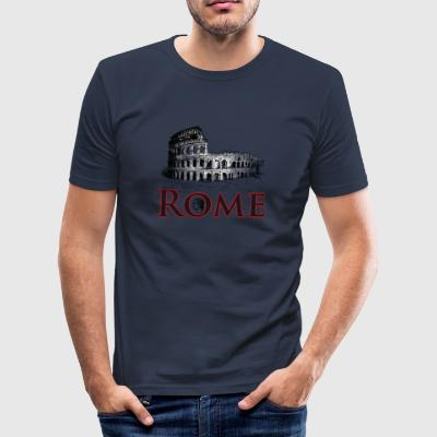 Roma Italia Colosseum ferie Caesar Antique Reise gif - Slim Fit T-skjorte for menn