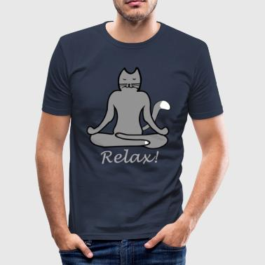 Slap Yoga Cat - Herre Slim Fit T-Shirt