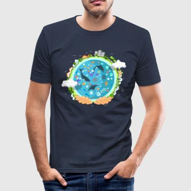 ocean life - Männer Slim Fit T-Shirt