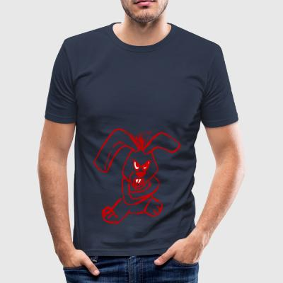 Evil Rabbit Red - Men's Slim Fit T-Shirt