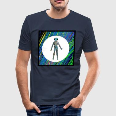 Abstract Male Body - slim fit T-shirt