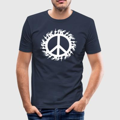 ++ ++ Love & Peace - Slim Fit T-shirt herr